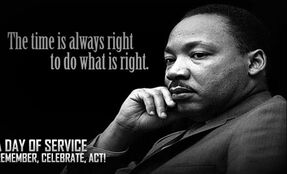 MLK Jr Quotation: The time is always right to do what is right.
